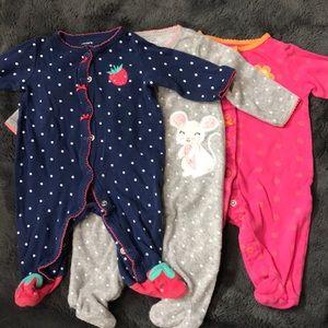 3 pair carters pajamas